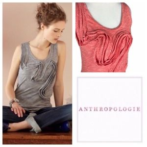 Anthropologie Red Winding Road Heathered Tank